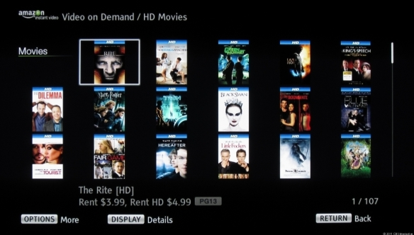 BluRay Player User Interface for Amazon on BRAVIA Internet Video