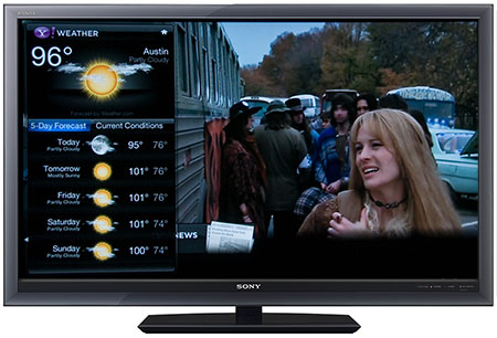 Weather Widget on the TV Screen